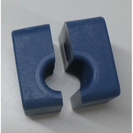 Collares de plástico para tubos de 10 mm.