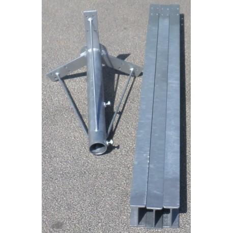 Base de estrella para mástil tubular o antenas verticales